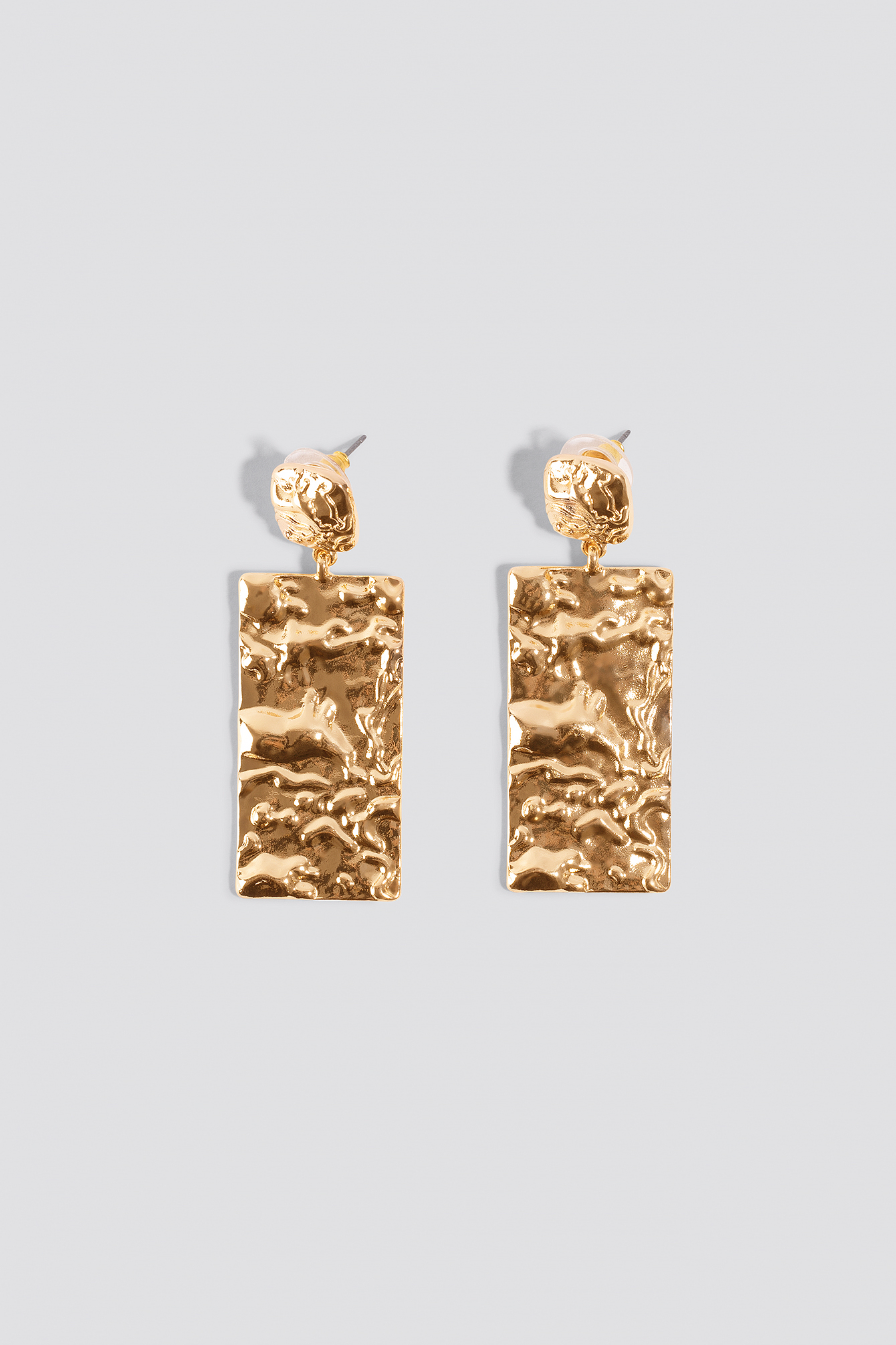Textured Plate Earrings NA-KD.COM