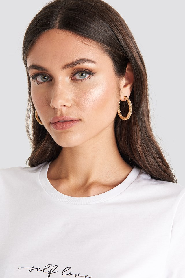 Textured Thick Hoops NA-KD Accessories