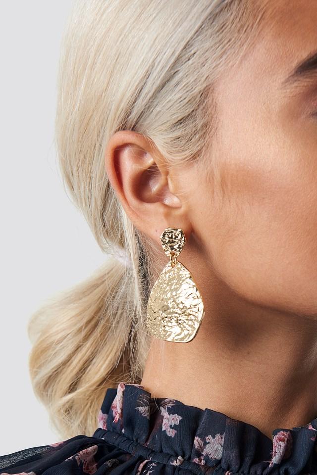 Textured Triangle Plate Earrings NA-KD.COM