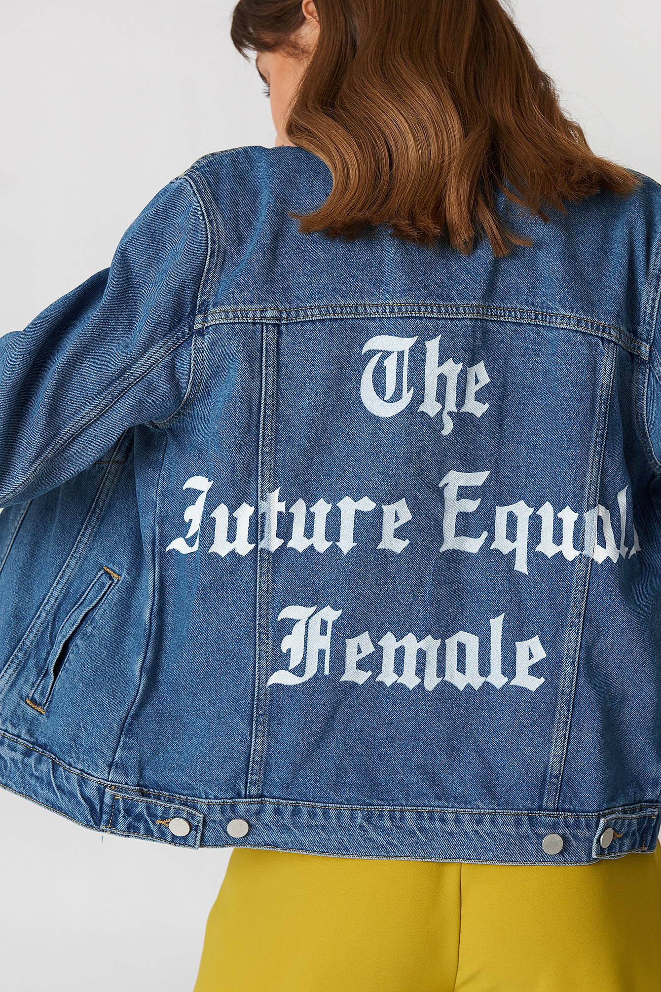 The Future Equals Female Denim Jacket NA-KD.COM