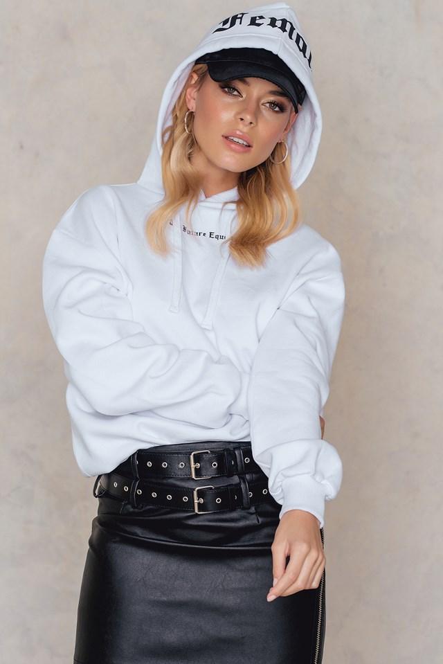 The Future Equals Female Hoodie White