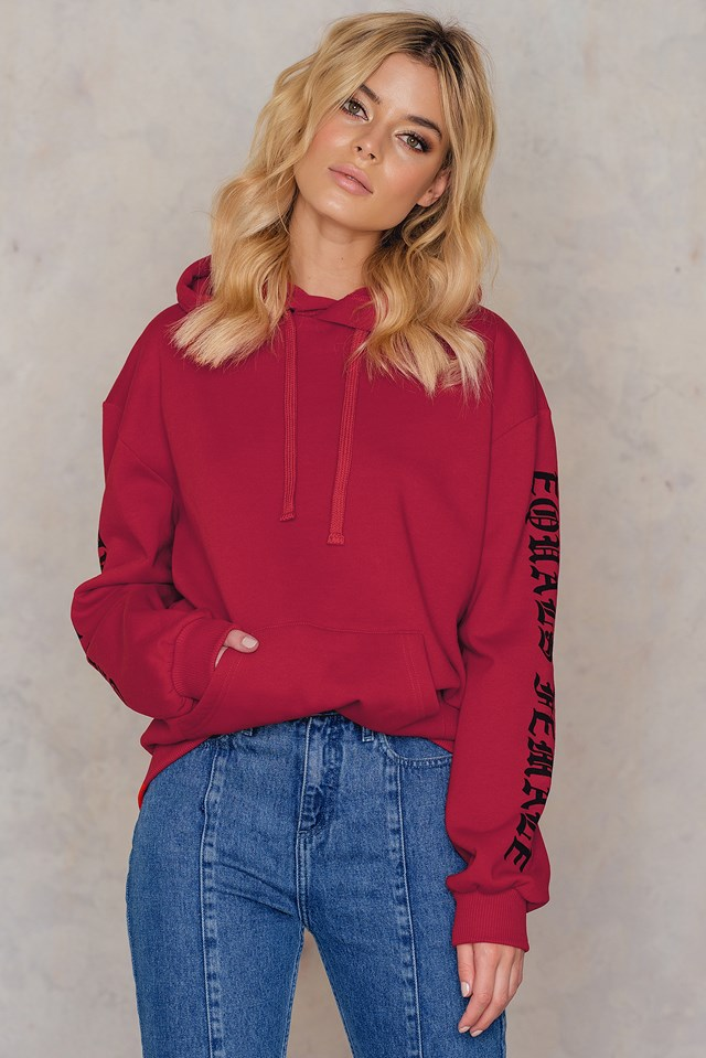 The Future Equals Female Sleeves Hoodie NA-KD.COM