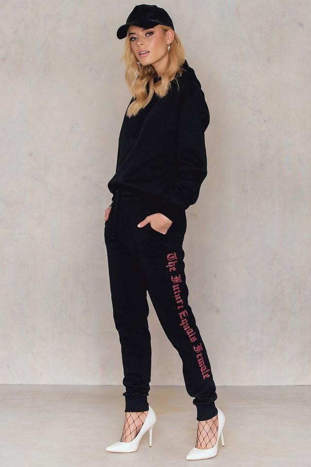 The Future Equals Female Sweatpants NA-KD.COM
