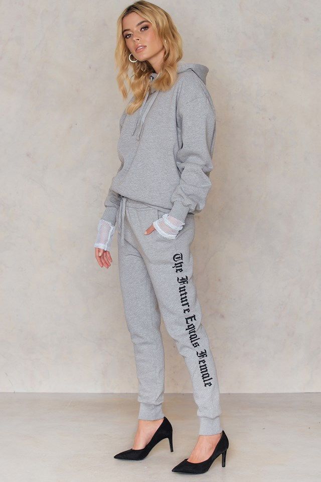 The Future Equals Female Sweatpants Light Grey Melange