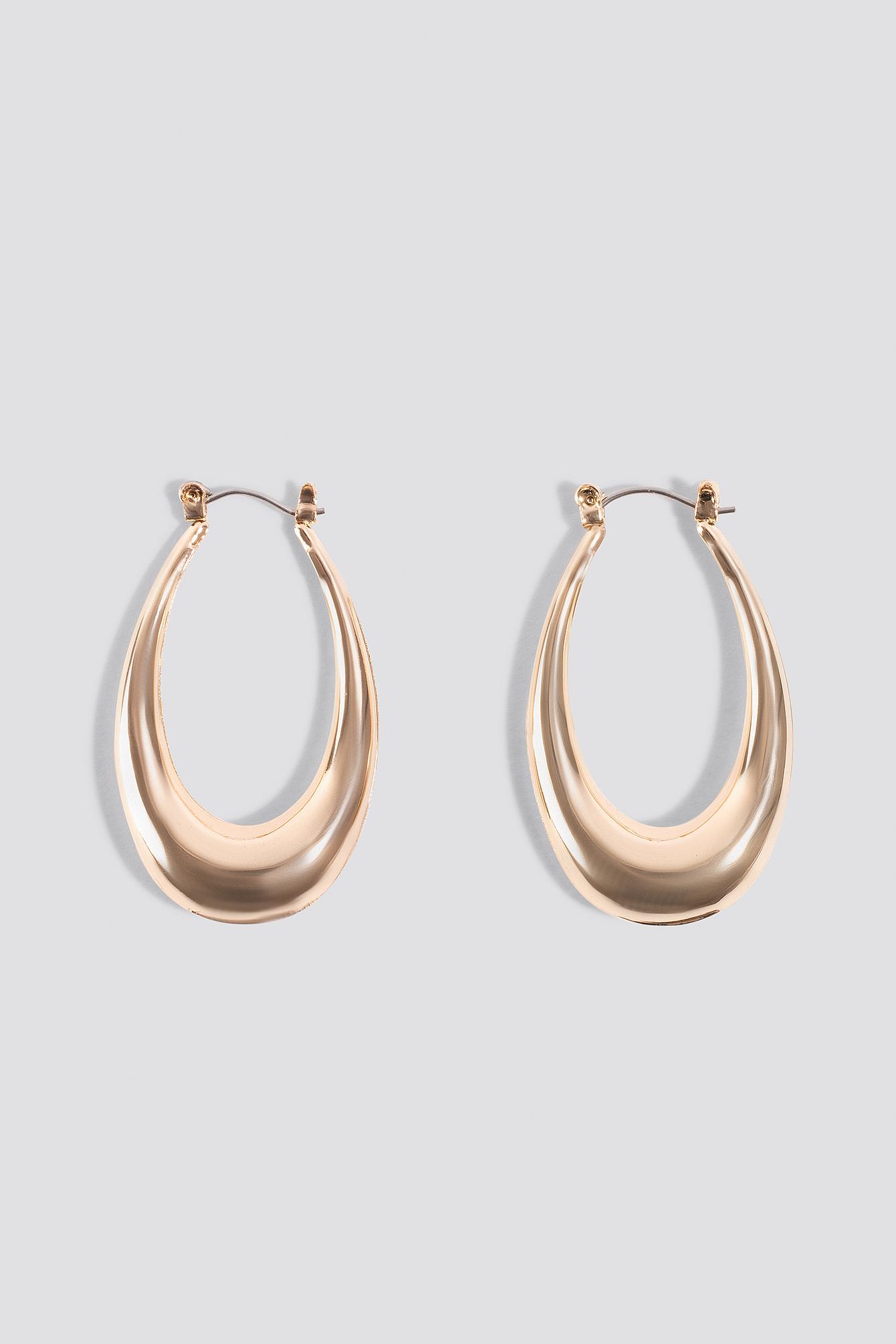 Thick Oval Hoop Earrings NA-KD.COM