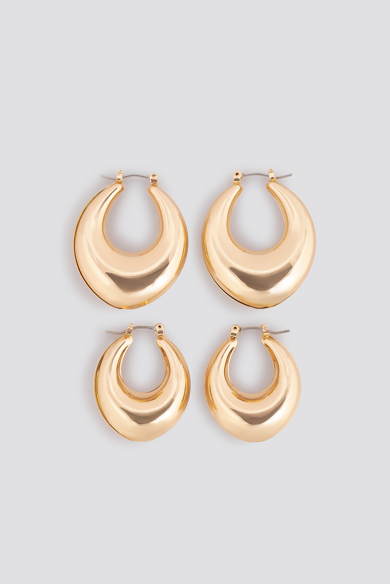 Thick Pointy Hoops (Double Pack) NA-KD.COM