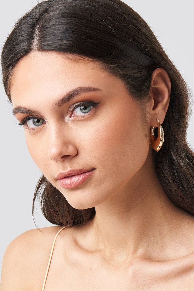 Thick Pointy Hoops (Double Pack) NA-KD Accessories