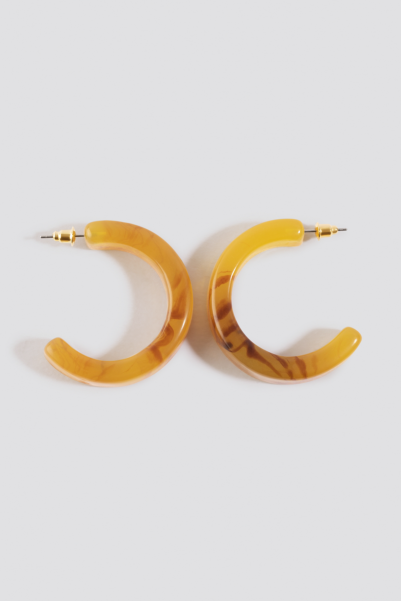 Thick Resin Hoop Earrings NA-KD.COM