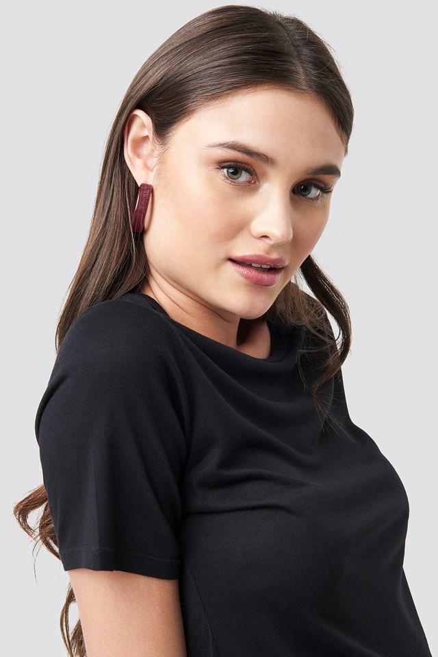 Thick Resin Hoop Earrings NA-KD.COM
