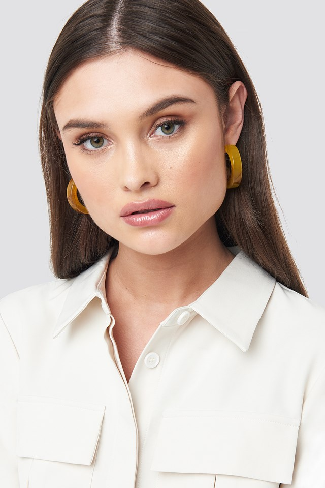 Thick Resin Hoop Earrings NA-KD Accessories