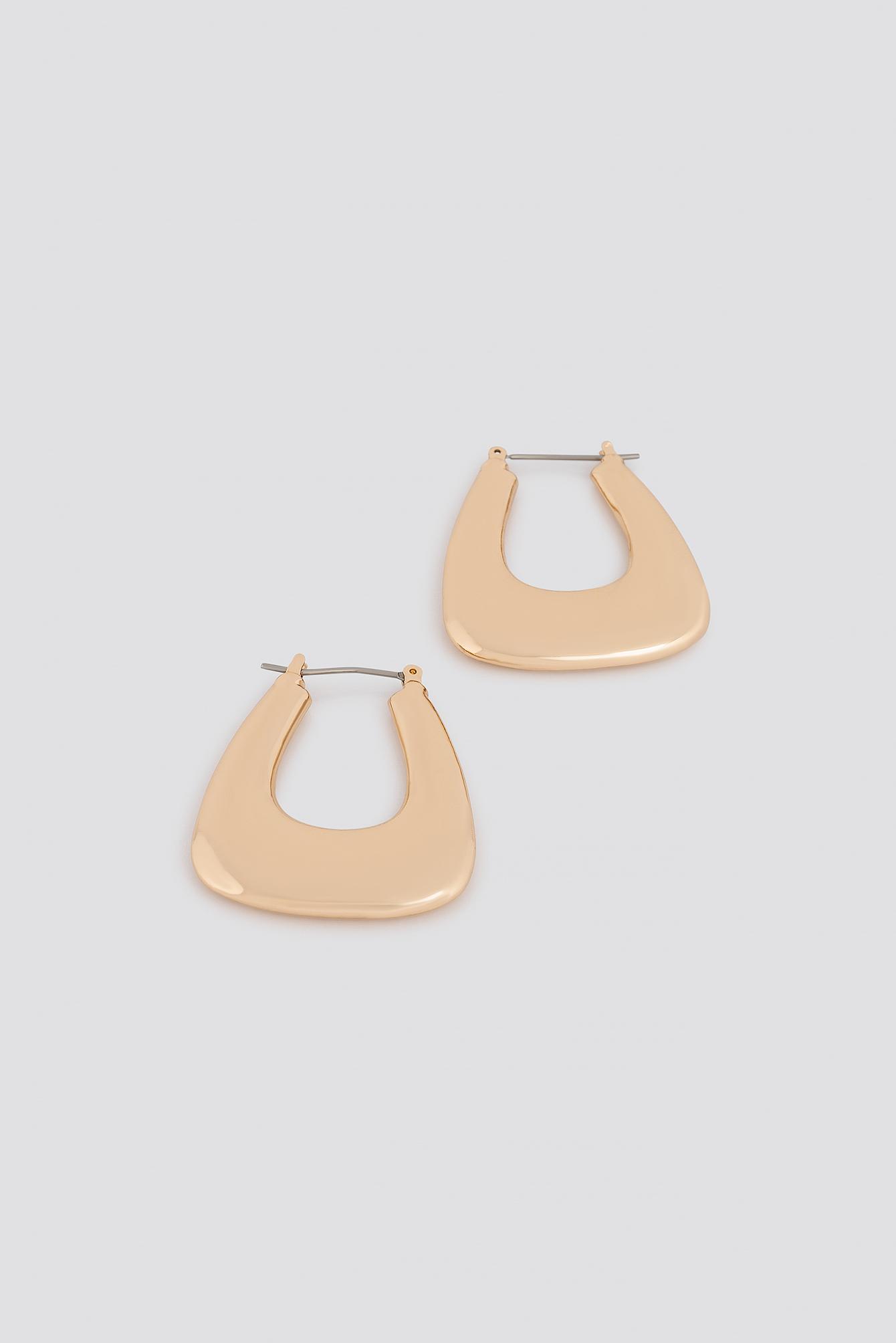 Thick Squared Hoop Earrings NA-KD.COM