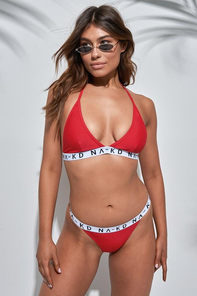 Thin Sporty Logo Bikini Panty NA-KD Swimwear