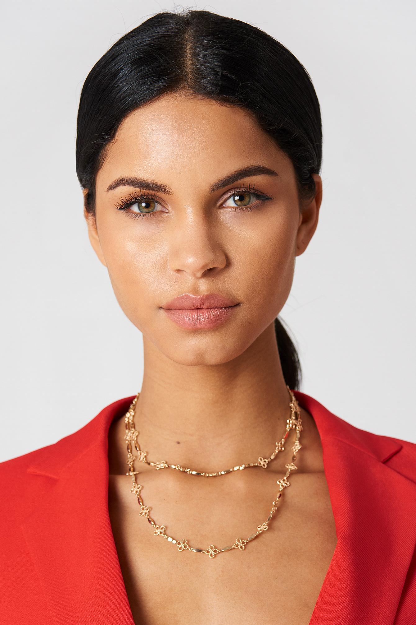 Thin Clover Necklace NA-KD.COM
