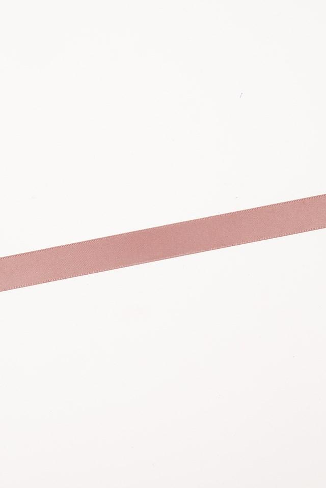 Thin Satin Choker Dusty Dark Pink