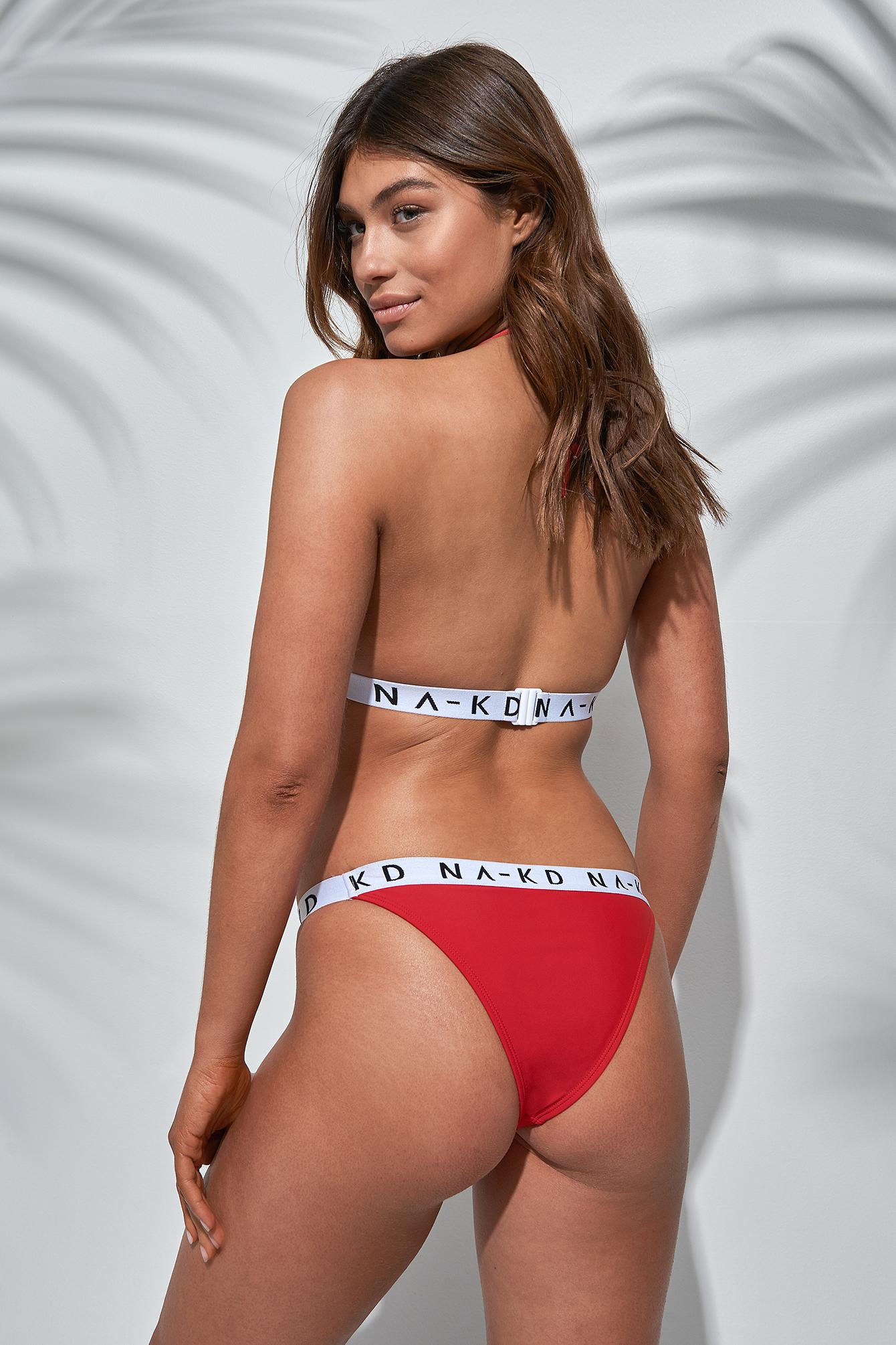 Thin Sporty Logo Triangle Bikini NA-KD.COM