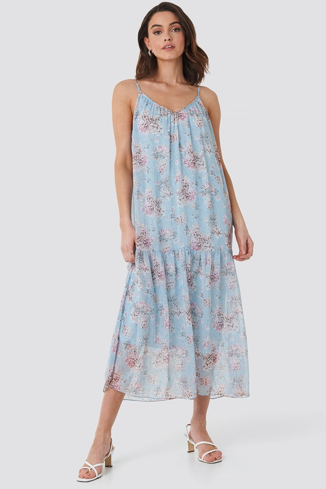 Thin Strap Ankle Dress Blue