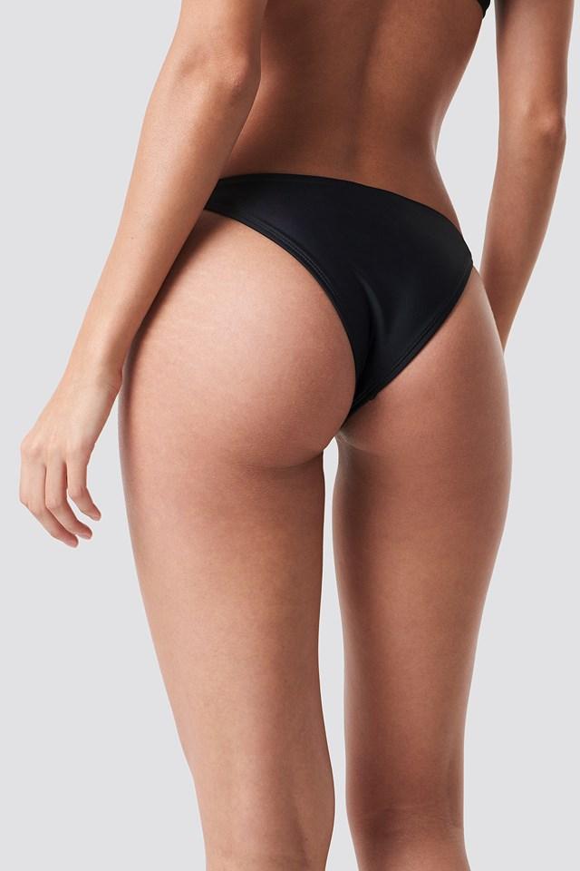 Thin Strap Bikini Briefs Black
