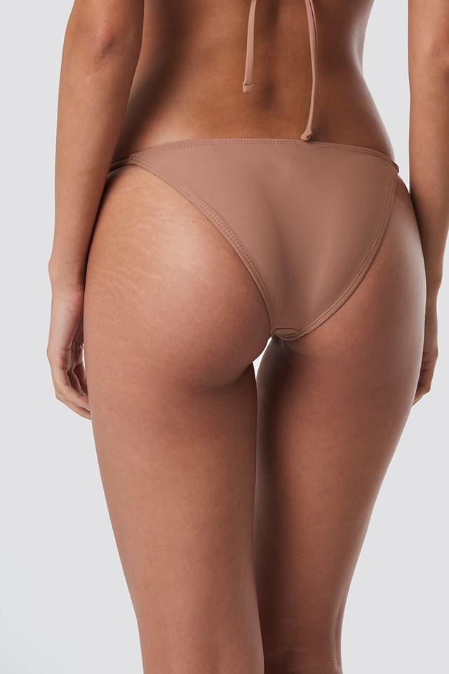 Thin Strap Bikini Briefs Dusty Dark Pink