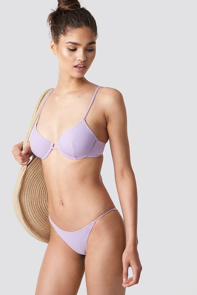 Thin Strap Bikini Briefs Lilac