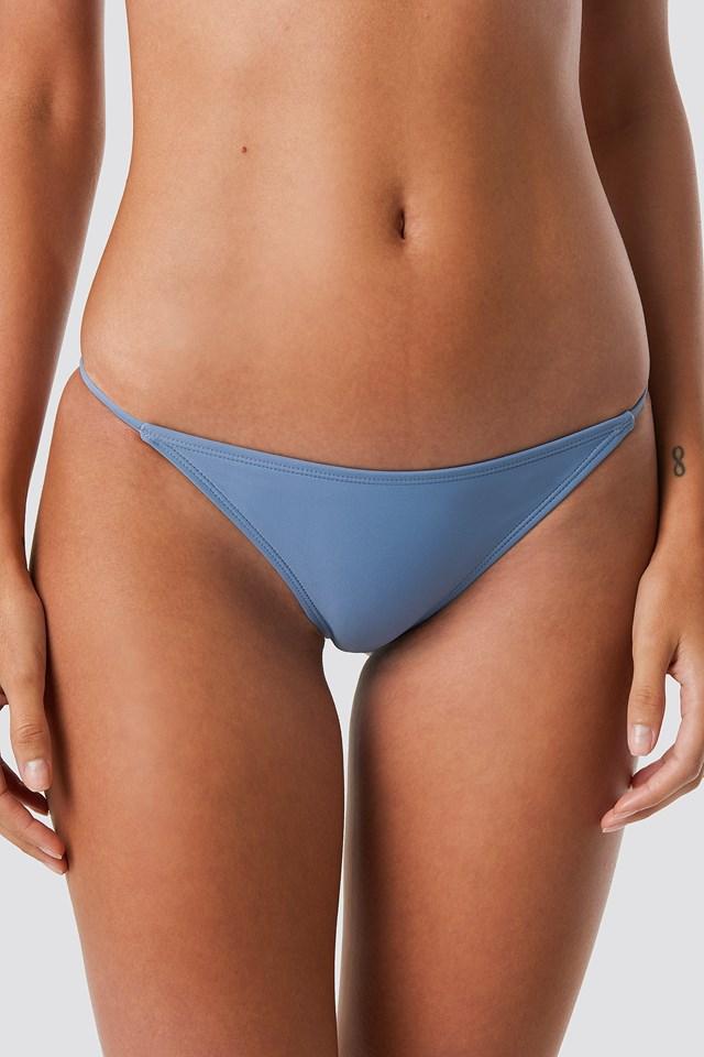 Thin Strap Bikini Briefs Blue Stone