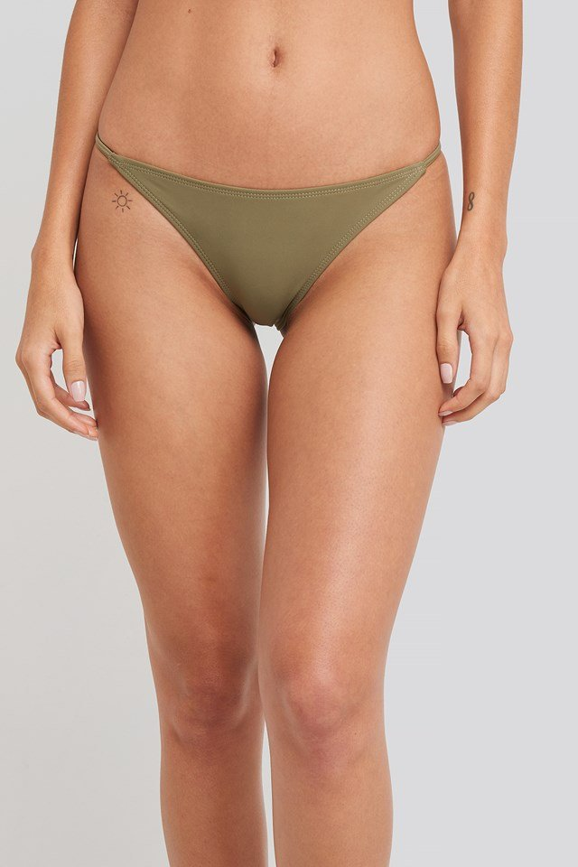 Thin Strap Bikini Briefs Khaki Green