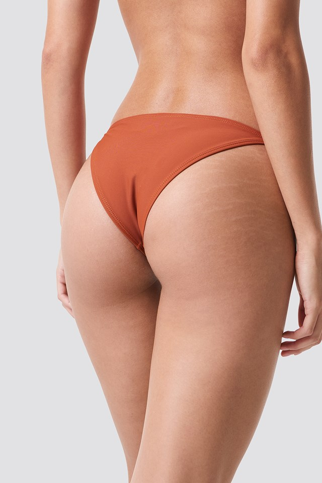 Thin Strap Bikini Briefs Rust