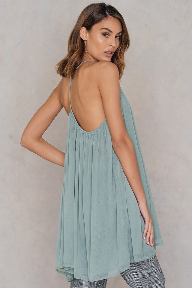 Thin Strap Chiffon Dress NA-KD.COM
