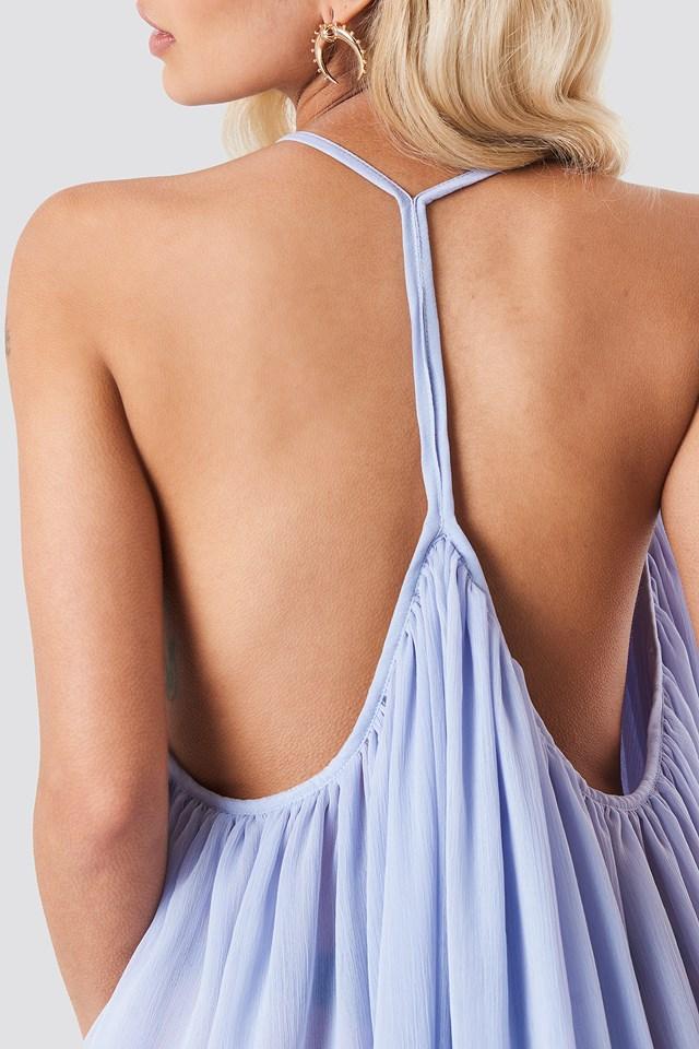 Szyfonowa sukienka na cienkich ramiączkach Lavender