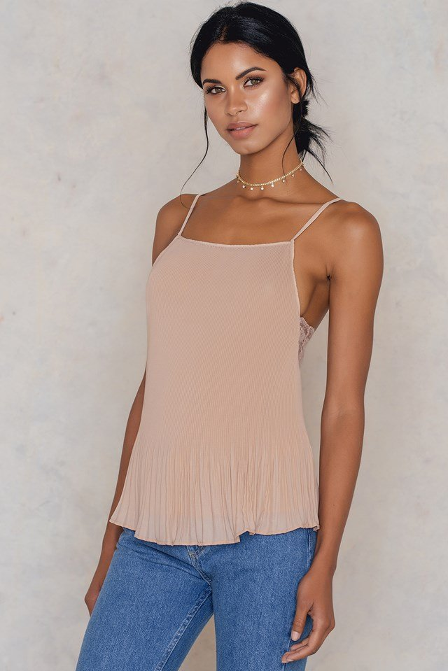 Thin Strap Pleated Top NA-KD.COM