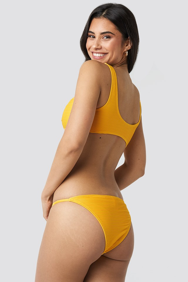 Thin Strap Ribbed Bikini Panty Citrus