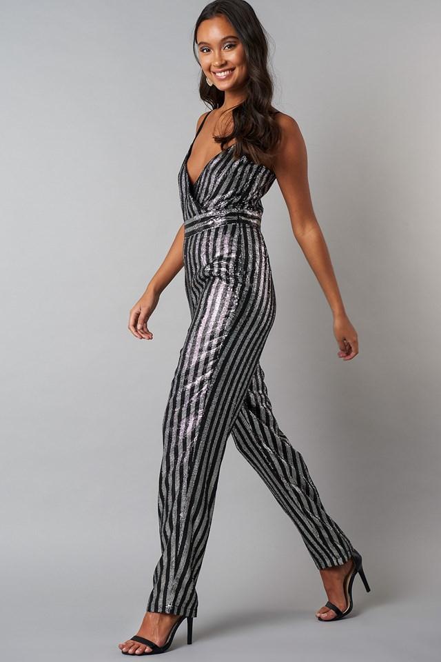 Thin Strap Sequins Jumpsuit NA-KD.COM