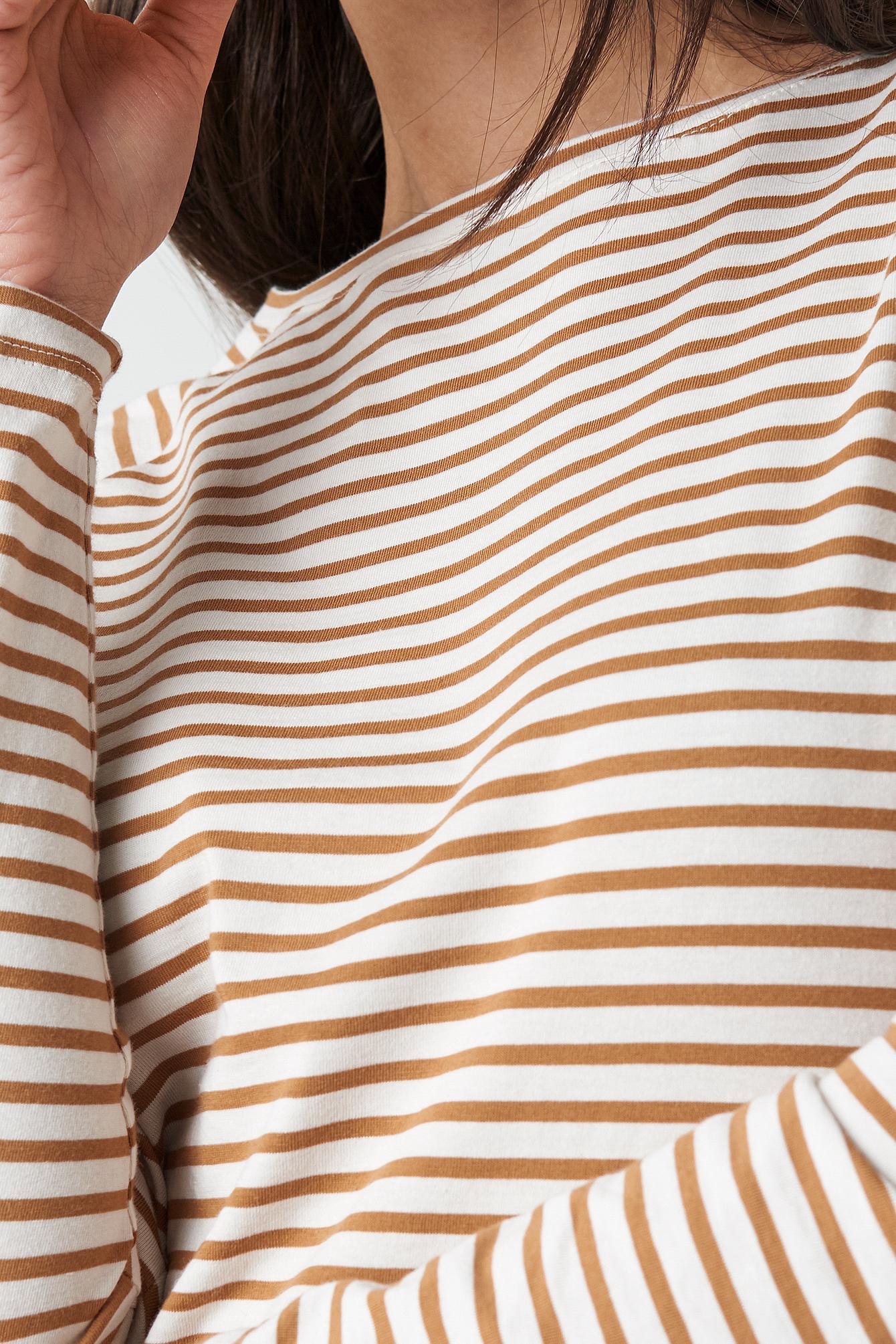 Thin Striped Long Sleeve Top NA-KD.COM