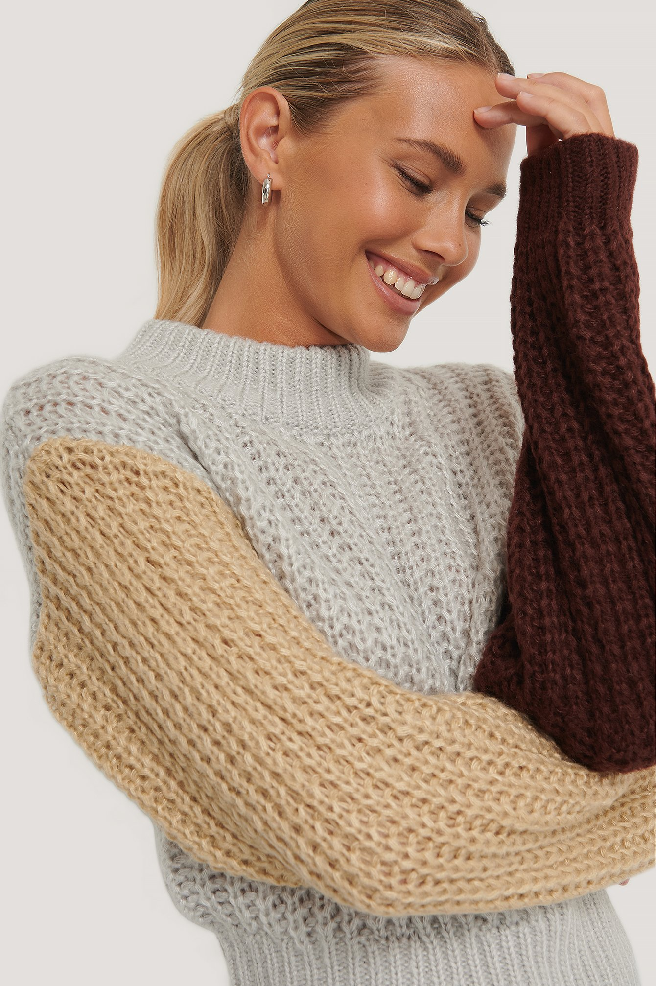 Multicolor Three Color Knitted Sweater
