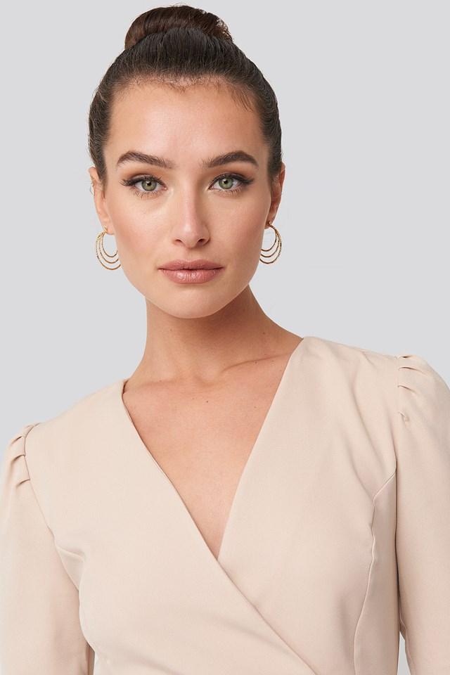 Three Hoop Detailed Earrings NA-KD Accessories