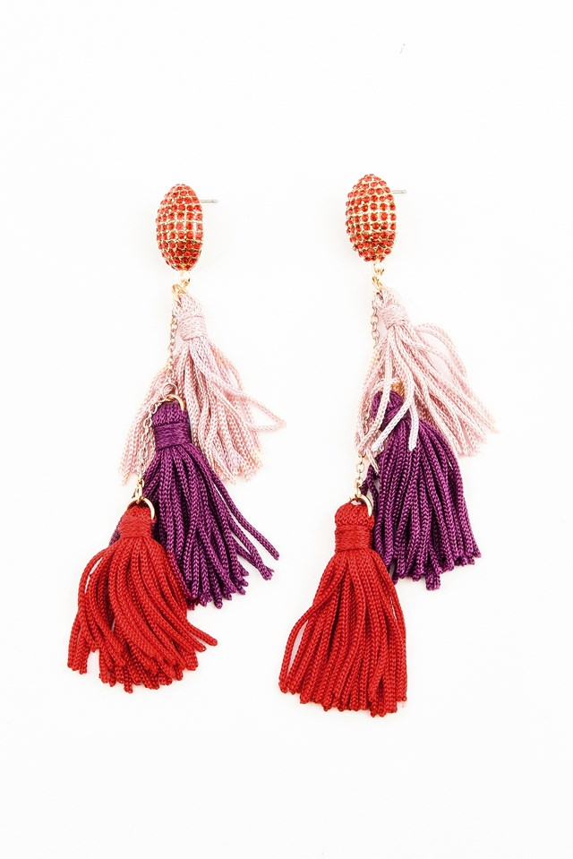 Three layered Diamond Tassel NA-KD.COM