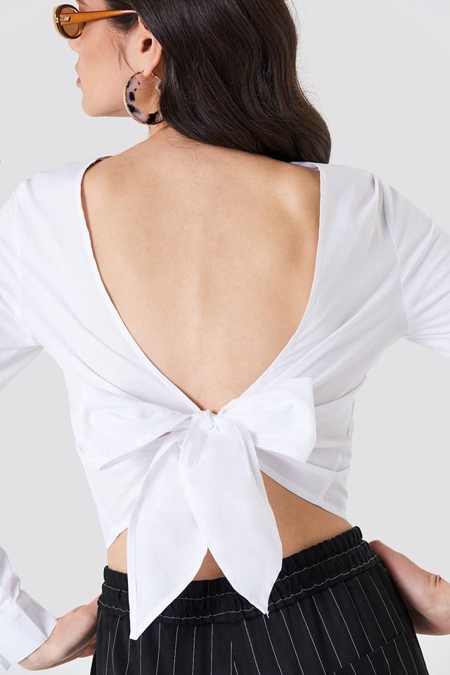 Tie Back Blouse NA-KD.COM