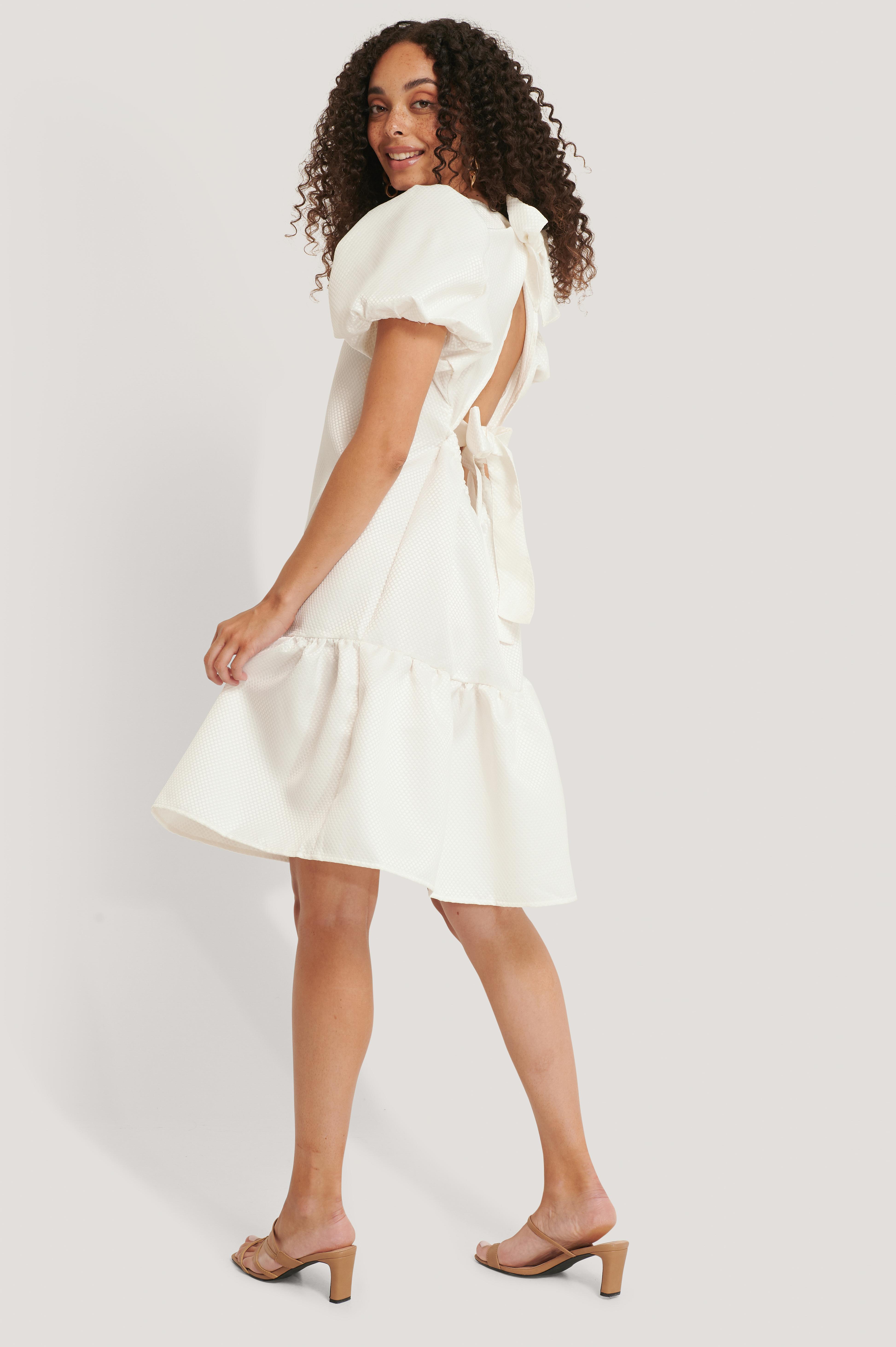 na-kd boho -  Strukturiertes Kleid - White