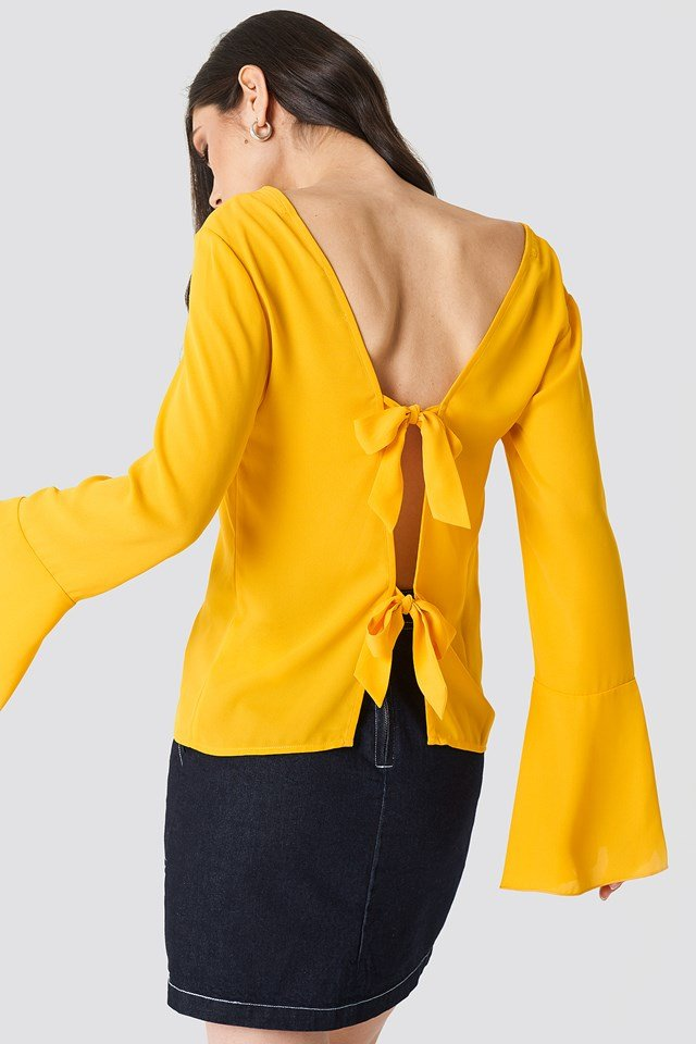 Tie Back Wide Sleeve Blouse NA-KD
