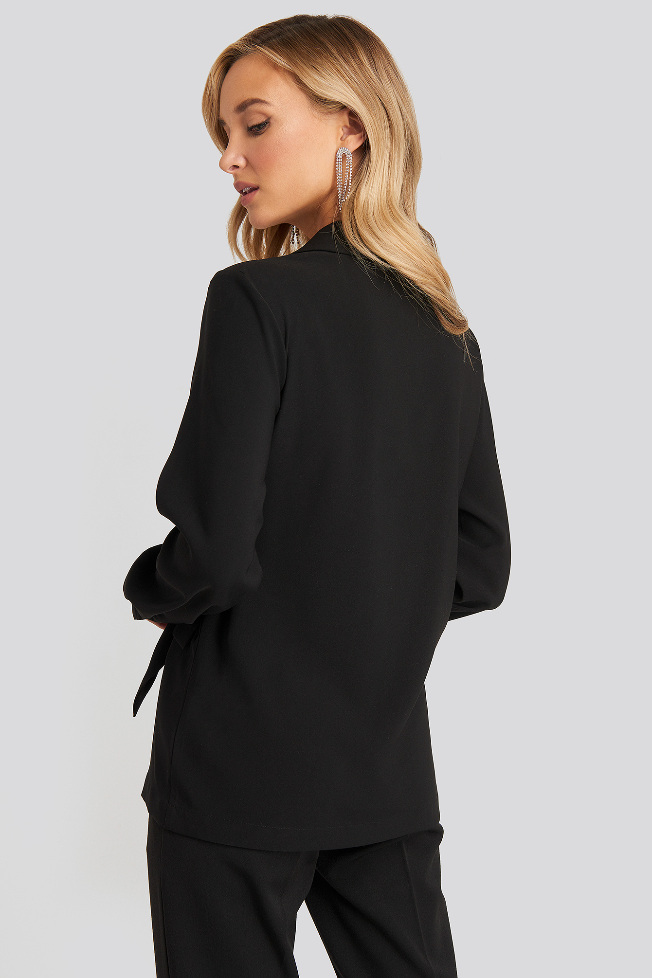 Black Tie Detail Soft Blazer