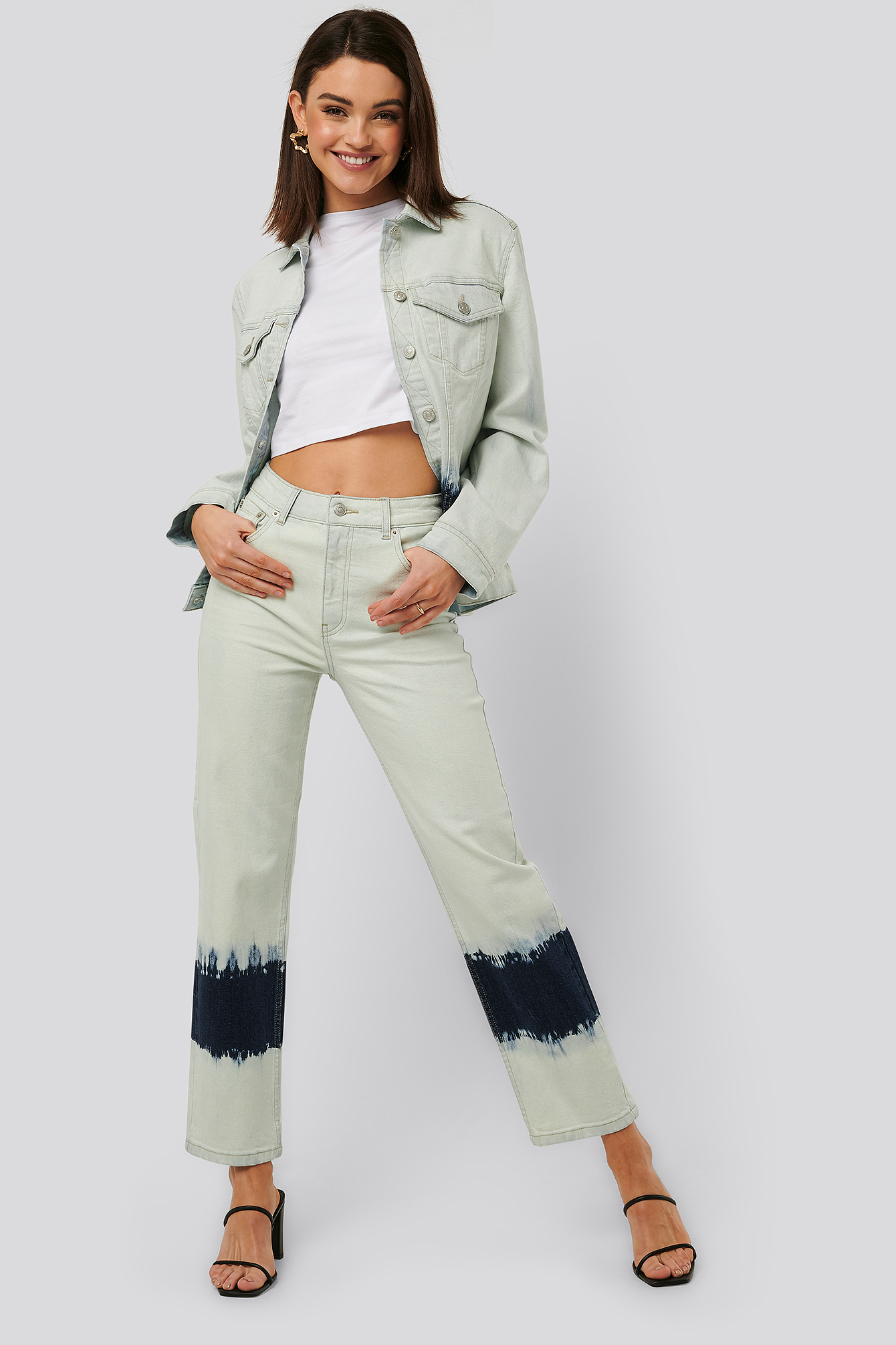 na-kd -  Jeans Mit Hoher Taille - Blue