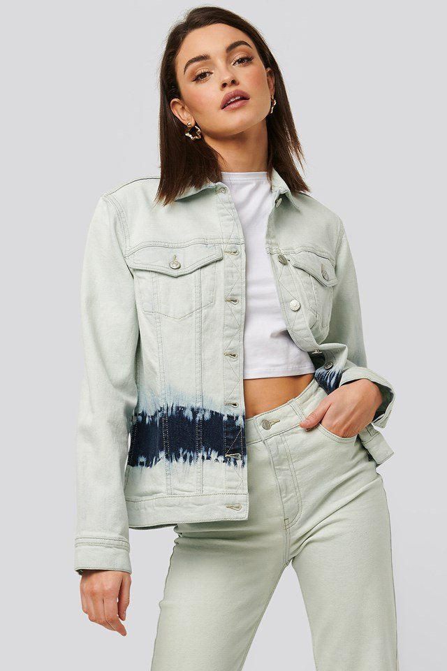 Tie Dye Denim Jacket Blue