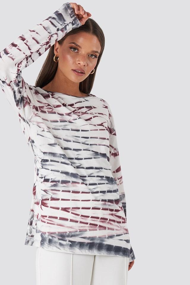Tie Dye Long Sleeve T-shirt Purple