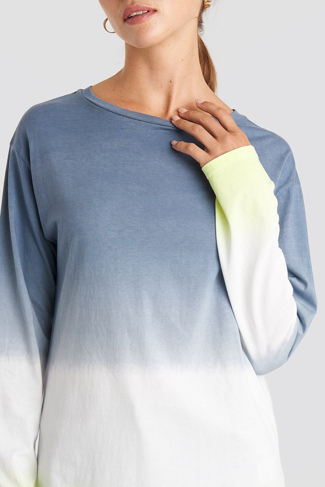 Tie Dye Long Sleeve T-shirt Grey