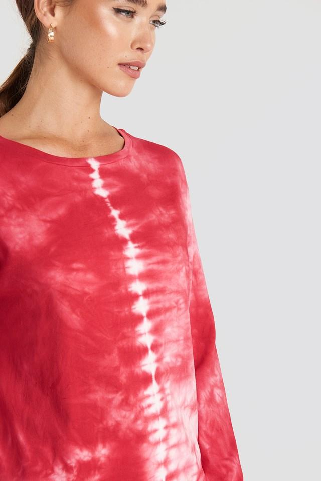 Tie Dye Long Sleeve T-shirt Orange