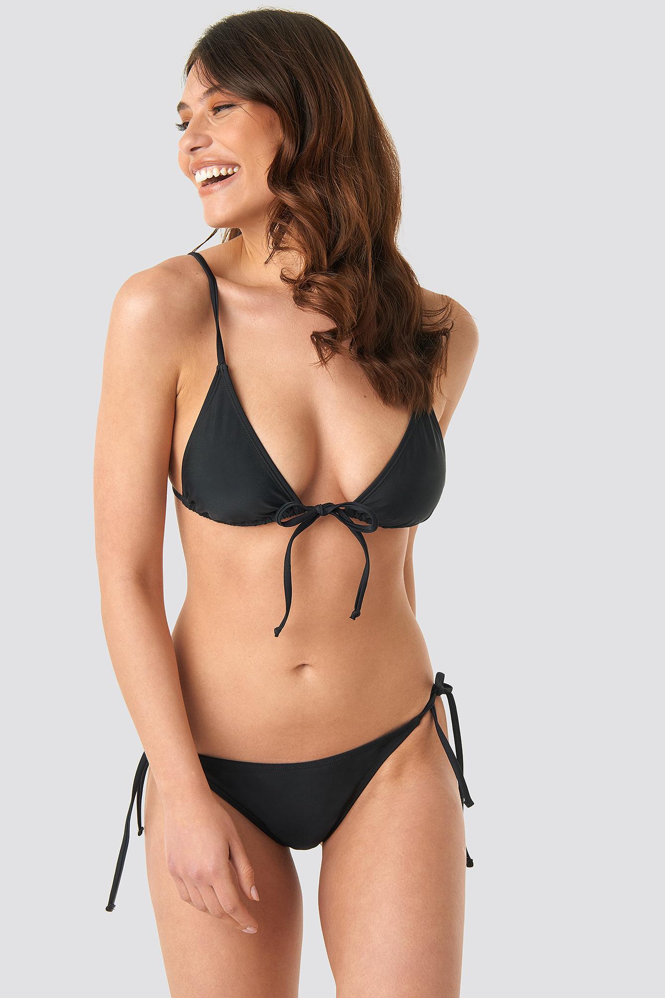 Tie Front Triangle Bikini Top NA-KD.COM