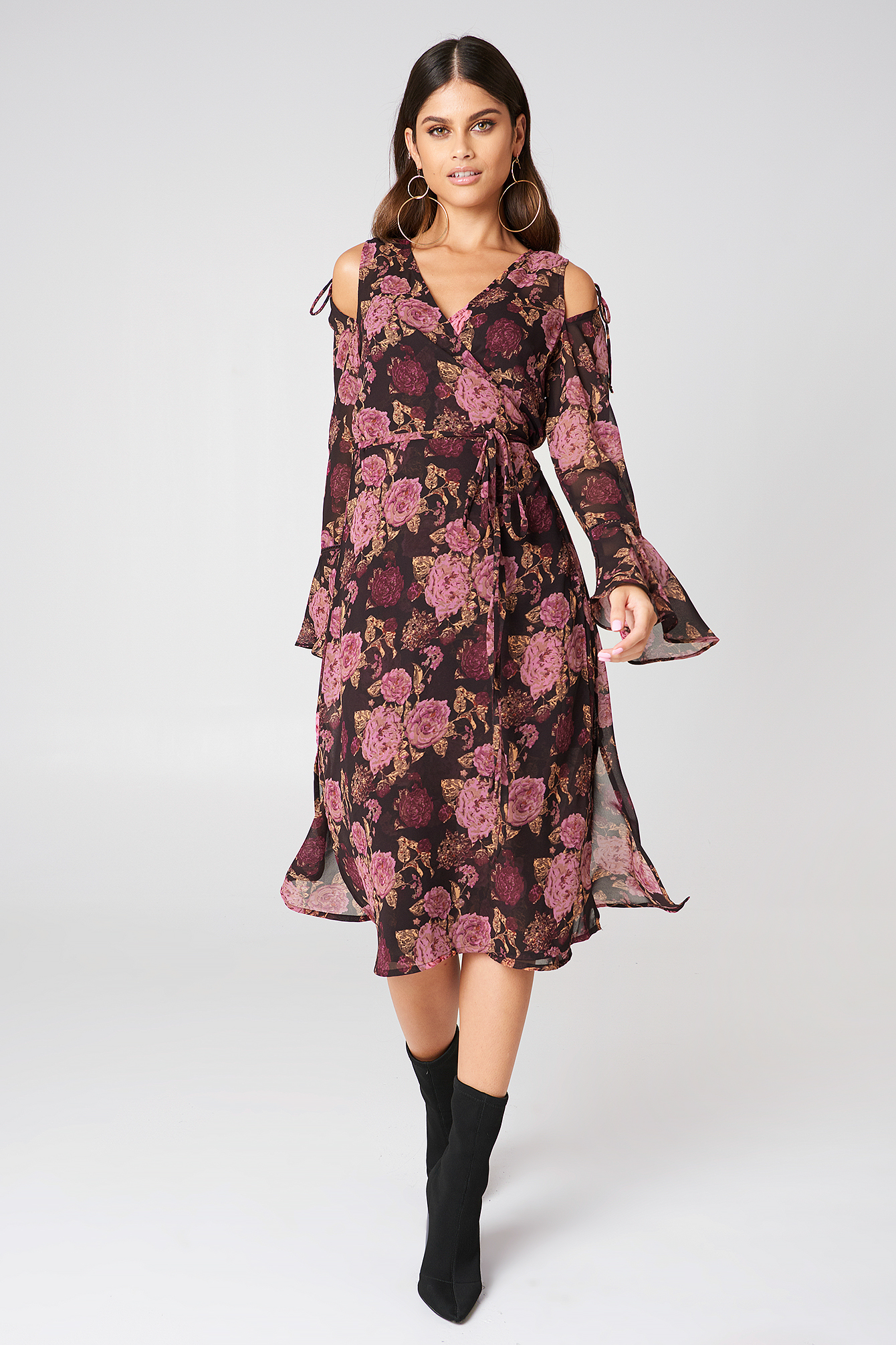 Tie Sleeve Caftan Dress NA-KD.COM