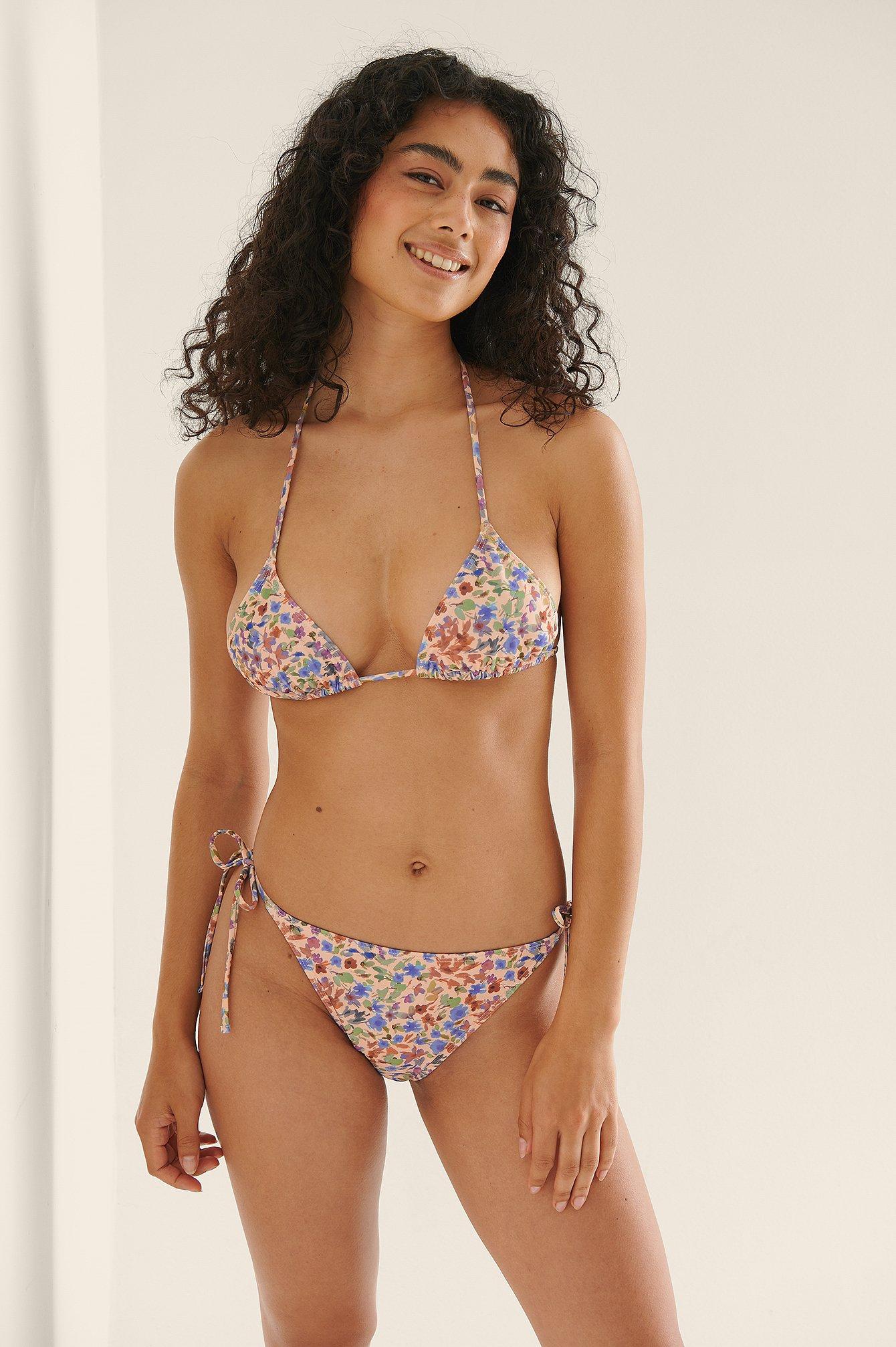 NA-KD Swimwear Bikinitrusse Med Bindestropper - Multicolor