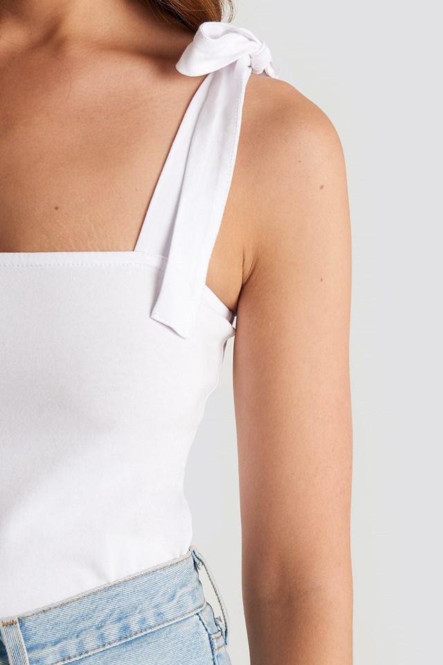 Tie Strap Top Optical White