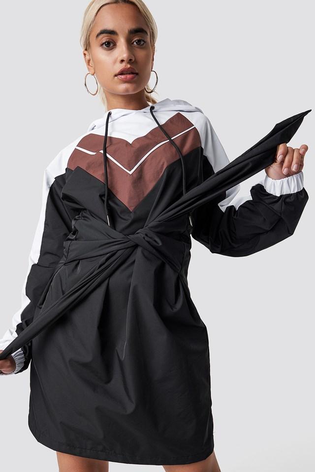 Tie Waist Hooded Dress NA-KD