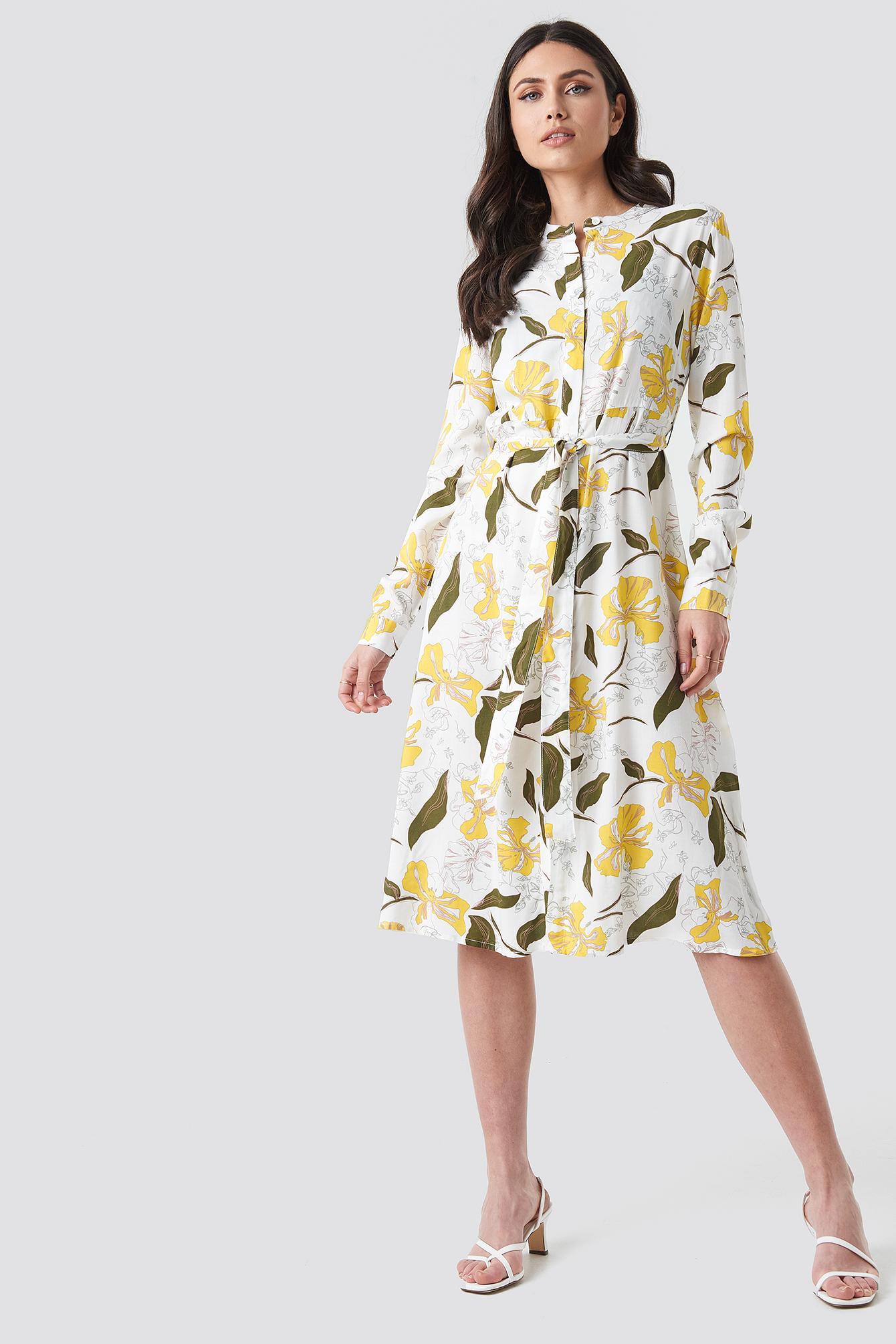 Tie Waist Midi Dress NA-KD.COM